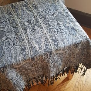 Gold and blue scarf or table runner